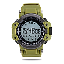 MUSCLE rtwatch Bluetooth 4.0 Ultraviolet Monitoring Remote Camera Calories Consumption Calling Reminder Pedometer IP67 Waterproof-GREEN