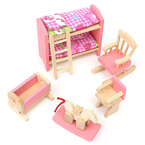 Buy Generic Miniature House Family Children Wooden Furniture Doll