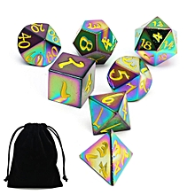 7Pcs Polyhedral Dice Set for Dungeons Dragons D20 D12 D10 D8 D6 D4 Games + Bag