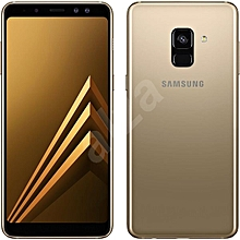 "Samsung Galaxy A8 (2018) 5.6"", 4GB,64GB ROM, 16MP Dual SIM 4G - Gold"