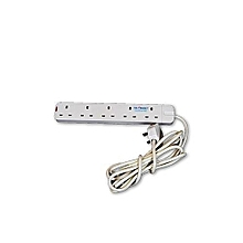 Heavy Duty 5-Outlet Surge Protector extension cable - white