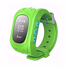 Smart Baby Watch GPS Tracker For Kids Safe SOS Call Anti Lost Reminder Green