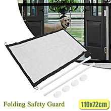 Baby Gate Fence Folding Safety Guard Mesh Net Child Pets Dog Cat Gauze Barrier