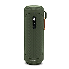 NR - 4016 Outdoor Wireless Bluetooth Stereo Speaker Portable Player-ARMY GREEN