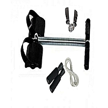 Tummy Trimmer - Black + FREE Skipping Rope and Hand Grip