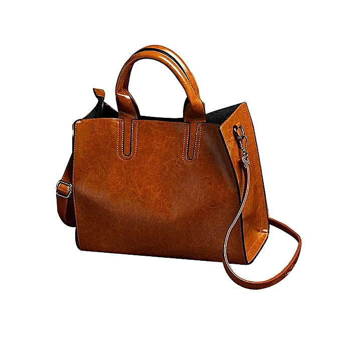 Women Ladies Leather Bag Handbag Purse Messenger Shoulder Crossbody Bag Tote HOT Brown