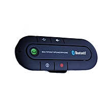 Wireless Multi-point Bluetooth Hands Free Car Kit Speakerphone Speaker Visor - Black