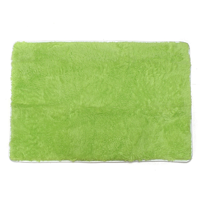 ... Shaggy Anti skid Carpets Rugs Floor Mat Cover 80x120cm Green
