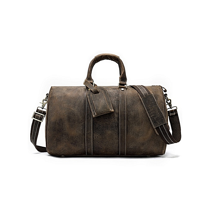 bfc4379a9e21 WESTAL men business travel bags leather duffle bag luxury luggage weekend  tote suitcase waterproof men's leather overnight bags(9016F4coffee)