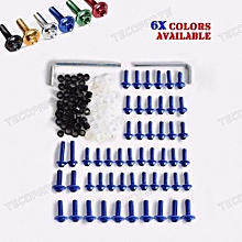 191937848874 Blue Fairing Bolts Kit Fastener Clips Screw F Yamaha YZF R6 1999 2000 2001 2002