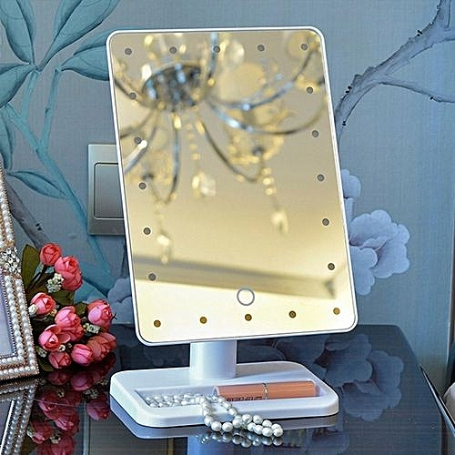 Buy Beauty Portable 20 Led Light Touch Screen Makeup Mirror Tabletop