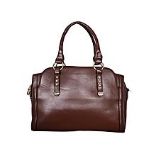 Coffee Leather Hand Bag
