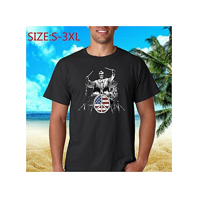 e355287c Hot Sale Patriotic Drum 101 Abe Lincoln American Flag Casual Crew Neck Men  Cotton Short Sleeve