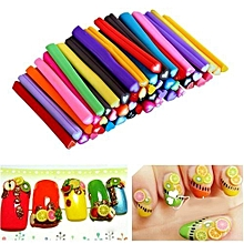 bluerdream-50pcs 3D Nail Art Fimo Canes Stick Rods Polymer Clay Stickers Decoration DIY- Multicolour