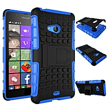 "For Nokia N540 Case, Hard PC+Soft TPU Shockproof Tough Dual Layer Cover Shell For 5.0"" Microsoft Lumia 540, Blue"