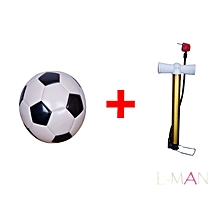 BIG Size FOOTBALL, Plus a Hand Pump - Black & White