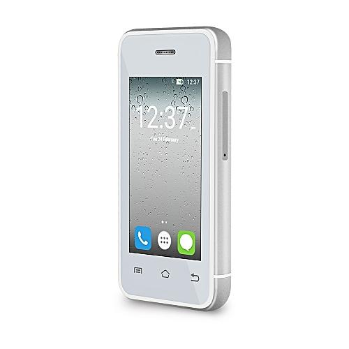 MELROSE S9 2.4 inch Androrid 4.4 Ulta-thin Mini 3G Smart Phone MT6580 Dual Core 1.2GHz 512MB RAM 8GB ROM Bluetooth Camera WiFi ( EU Plug ) SILVER BUILT-IN 16GB TF CARD