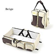 2 in 1 Multifunctional Baby Bag - Beige