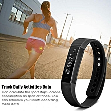 Bluetooth Waterproof Sport Wristband Pedometer Sleep Monitor Smart Watch For Android IOS Black - ...