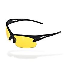 3105 Cycling Glasses Explosion-proof Eyeglasses With PC Lens - Yellow