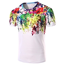 Men's 3D Abstract Printed T-Shirt - Colormix
