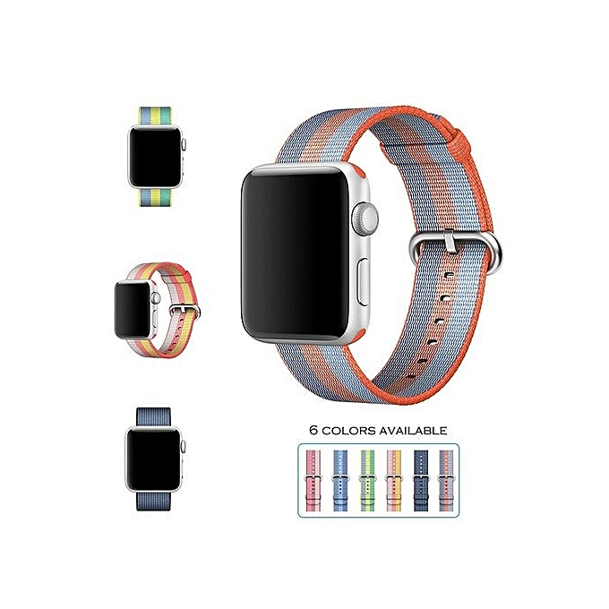 Generic Colour  Blue--Band For Apple Watch Series 1 2 Women Nylon ... 39770a090