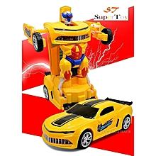 Baby Car Toys Transformation kids Car Deformation Toy 2 in 1 Vehicle Robot Toy Gift