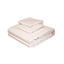 4Pcs - Flat Bed Sheets - 5 x 6 - White Stripped