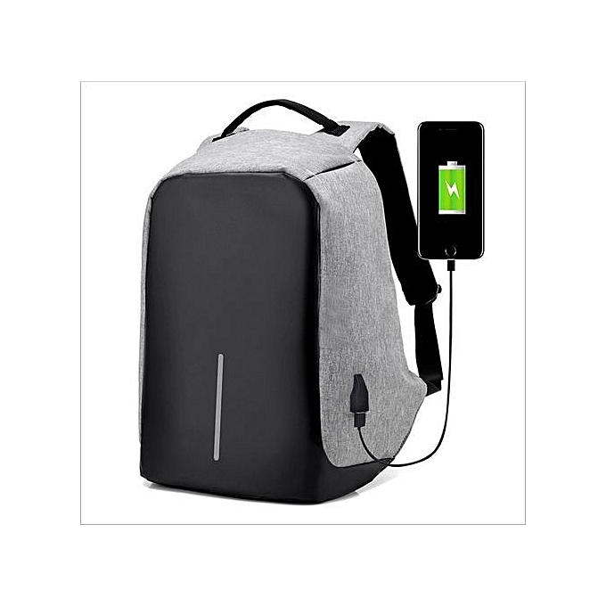 3ad443fce03 Buy Generic Men Anti-theft USB Charging Port Business Backpack -Grey ...