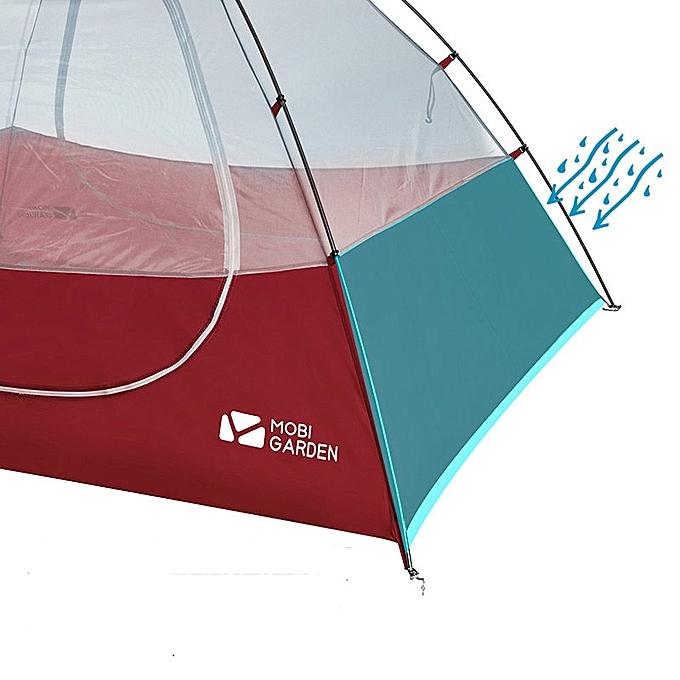 MOBI GARDEN NXZQU61012 2 People Camping Tent Waterproof Aluminum Double  Layer Sunshade