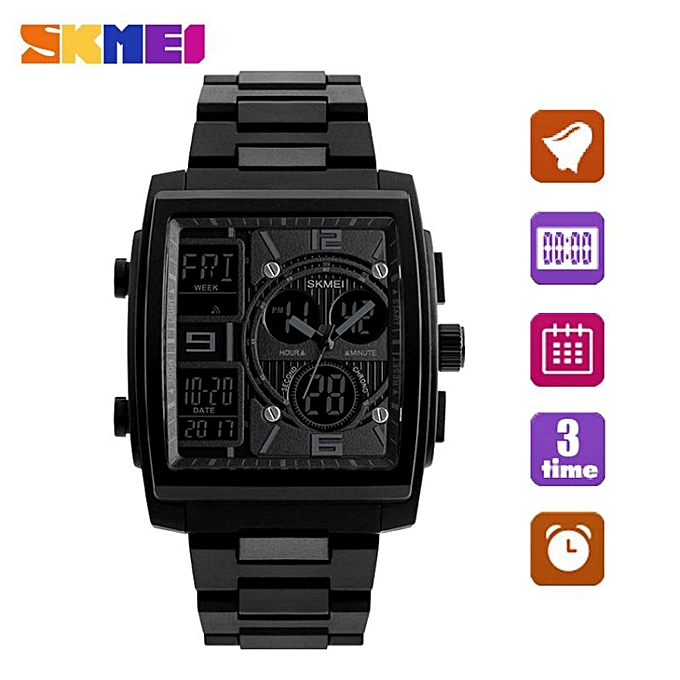 SKMEI Brand Men s Fashion Wrist Quartz Countdown Chronograph Multifunction  Sport Casual Business Watch Jam Tangan Lelaki a3f0a84cc0