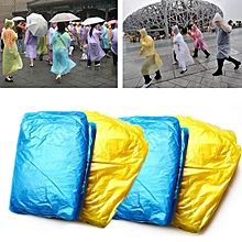 4 PCS Disposable Pocket Emergency Raincoat with String, Random Color Delivery