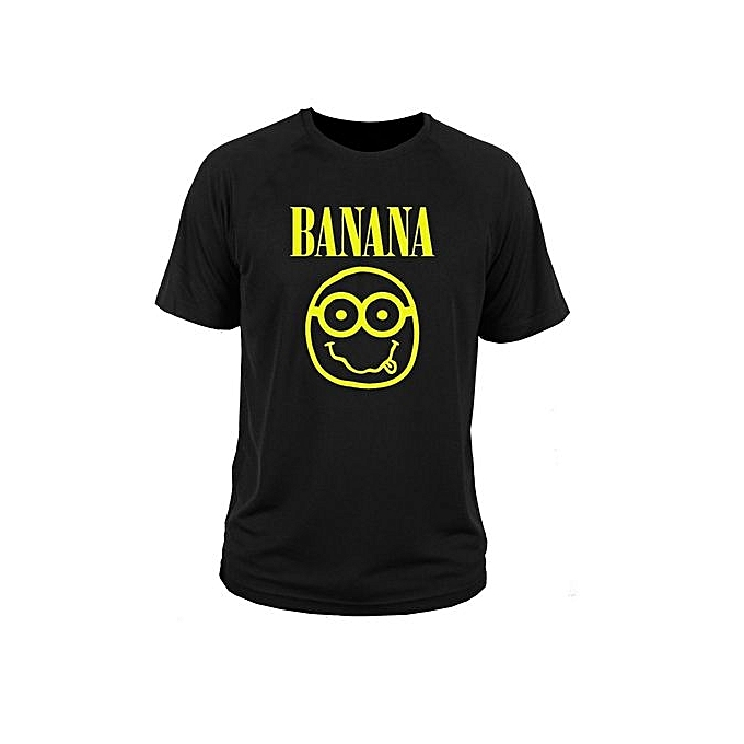 4d556d0f8c0 Nirvana Black Graphic Tee Shirt Mens Short Sleeve Cotton T-shirt Fashion T  Shirt Casual