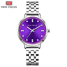 MF0047L Women Watch Quartz Stainless Steel Strap Simple Wristwatch Time Display Fashion Casual 3ATM Waterproof Luminous Hands Female Watches