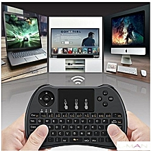 Smart TV, Android Box Wireless Keypad/Remote with Mouse Touchpad, for SAMSUNG,SONY, LG, TCL, HISENSE, MOOKA, BRUHM,  Rechargeable - Black