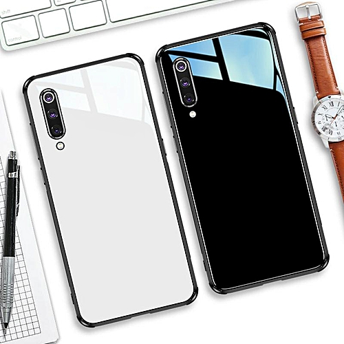 best website cd63a ca56e Glass Case For Xiaomi 9 Cover Full Protection Tempered Glass Back Cover  Casing For Xiaomi Mi 9 Glass Housing (Black)