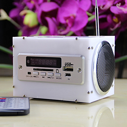 Multifunctional Mini Electronic Transparent Stereo Speaker Box DIY Kit  Sound Amplifier with Battery Charger