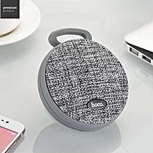 HOCO BS7 MoBu Sports Wireless Speaker Portable Cloth Texture Bluetooth Music Speaker-Grey LBQ