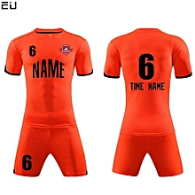 Customized Youth Chuldren And Adult Men's Football Soccer Team Jersey Set-Orange(QD-625)