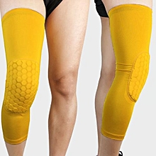 Sports Honeycomb Knee Pad Crashproof Basketball Leg Long Sleeve Protect Gear