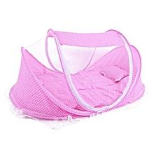 Baby cot mosquitoe net - Pink