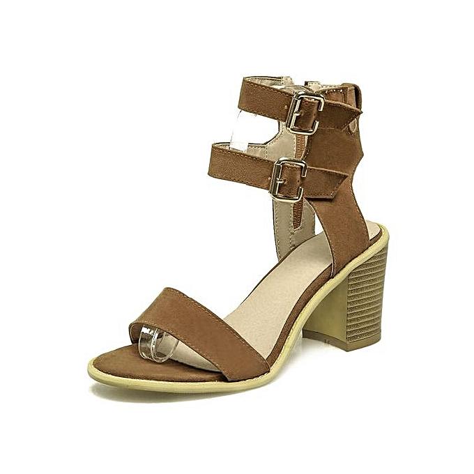 8fb46156a714e Fashion Simple Buckle Strap Suede Design Women Sandals   Best Price ...