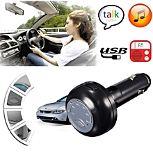 Bluetooth Handfree Car Kit MP3 Player FM Transmitter Charger For IPhone6/Samsung Black