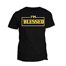 Black Blessed T- shirt Design