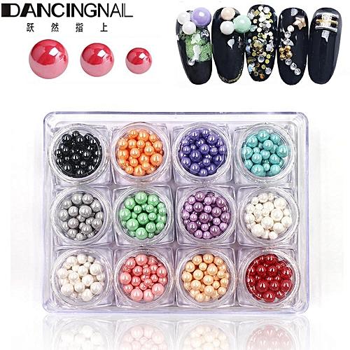 Buy Generic 12 Colors Ball Caviar Nail Art Beads Gel Polish Manicure