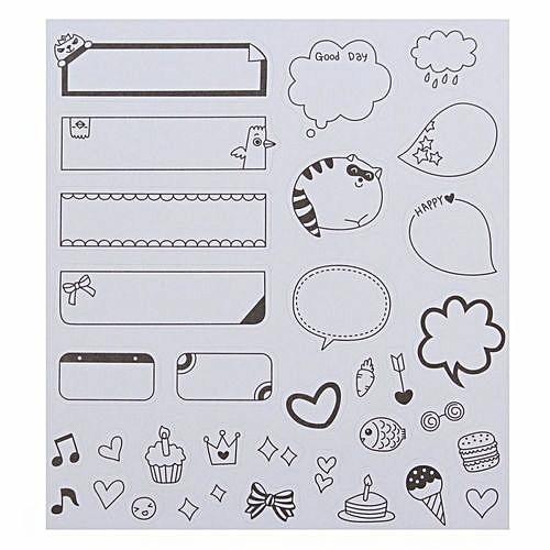 Universal New 6 Sheets Diy Calendar Photo Paper Sticker Scrapbook