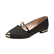 Women Pointed Toe Ladise Shoes Casual Low Heel Flat Shoes BK/35