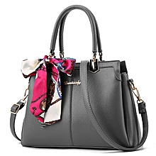Sweet And lady Fashion  Pure Color Sling And Handbag Gray