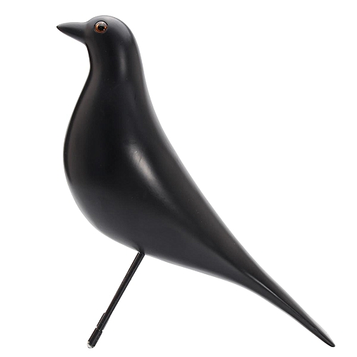 Generic Retro House Bird Desk Ornament Resin Pigeon Gifts Home Office Table Decoration#Black