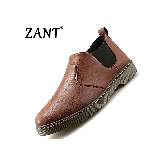 ce09e1dd85 2017 Summer New Men s Ankle Boots Fashion Casual Casual Comfortable Shoes ( Brown)